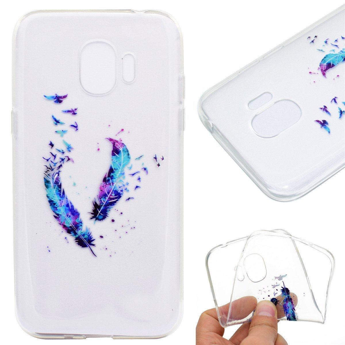 2018 HopMore Coque Samsung Galaxy J2 Pro Marbre Rose Silicone Souple Transparent Motif Swag Dr/ôle Marbre Rose /Étui Antichoc Ultra Mince Fine Gel Bumper Case Housse Transparente Design