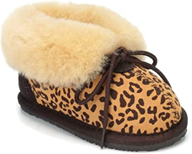Girls Boys Baby GENUINE SHEEPSKIN Leather Slippers Boots 2 years Newborn