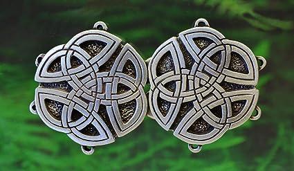 Cloak Clasp Floral Medieval Renaissance Cloak or Cape Clasp Fine Pewter