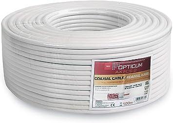 Opticum cable coaxial (135 db de cobre, 5 capas, RG6, 7.2 mm ...