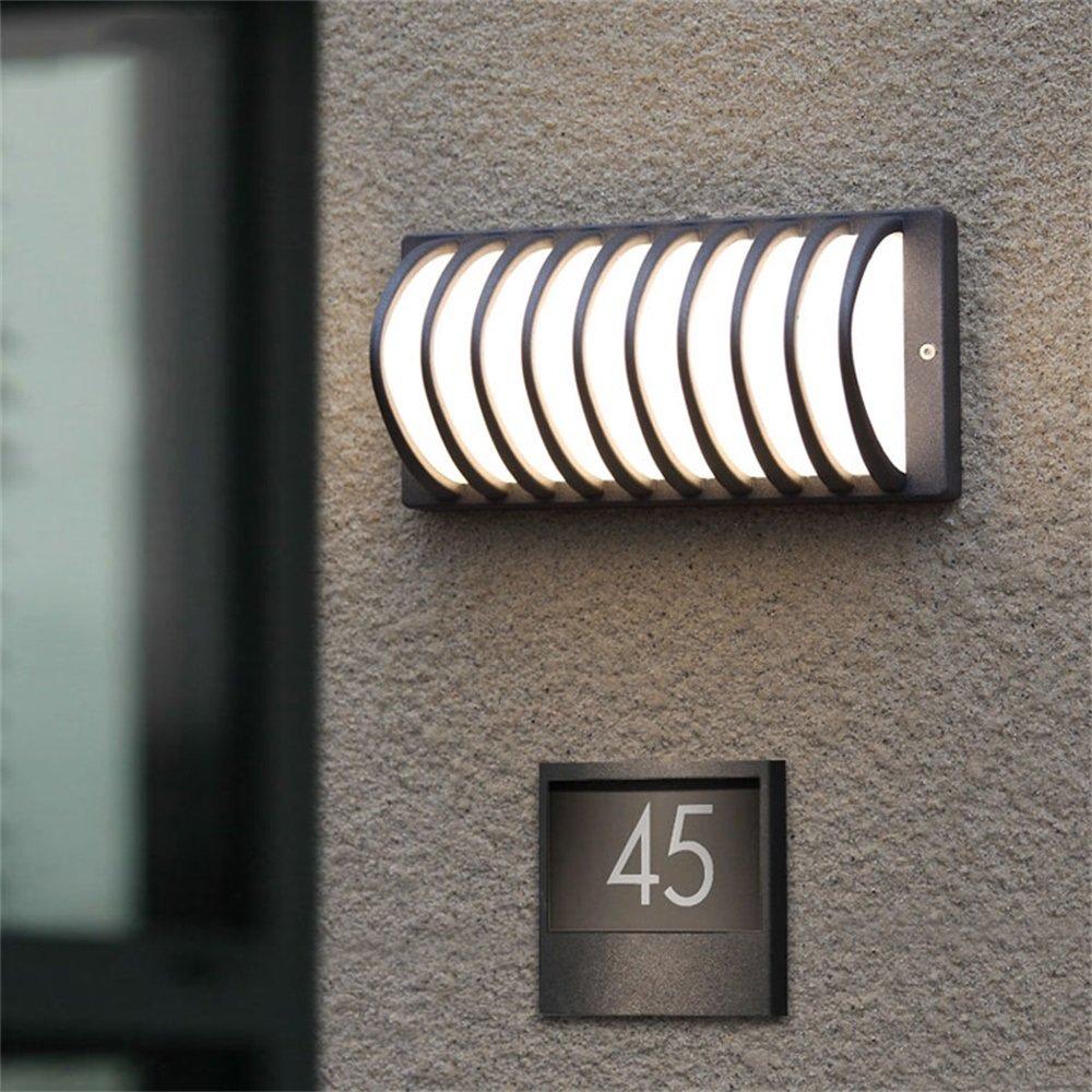 Europeo moderno minimalista creativo retrò esterno Lampada da parete impermeabile LED Illuminazione da giardino Villa esterna Balcone Terrazza
