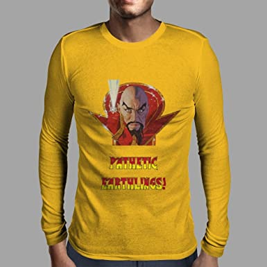3fa32d31c2be4 Ming The Merciless - Pathetic Earthlings Mens Long Sleeve T-Shirt   Amazon.co.uk  Clothing
