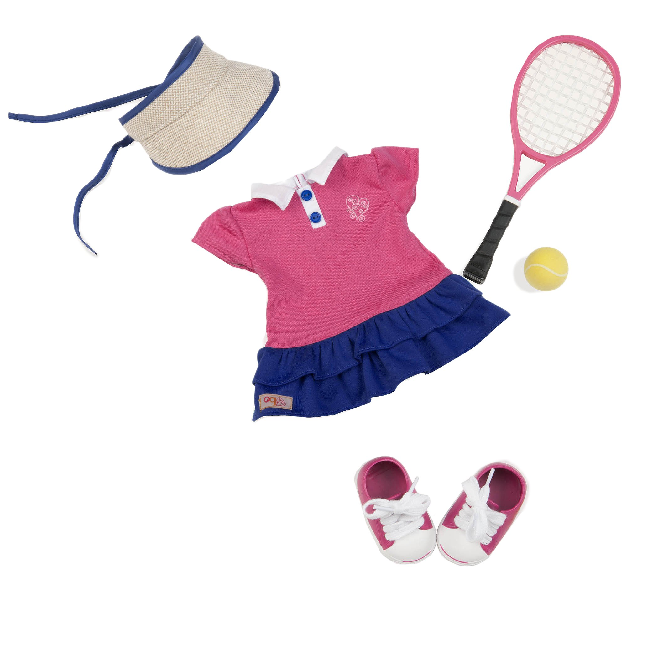 eb119db8c0cc6 Details about Our Generation Ace'd It! Tennis Outfit with Accessories for  18-Inch Dolls