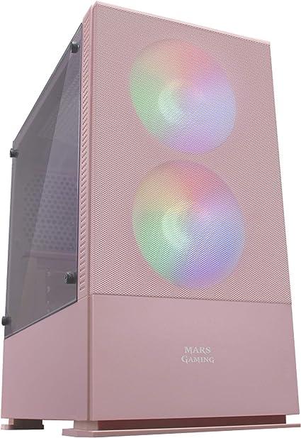 Panneau MicroATX Mars Gaming MCZW Blanc Frontale Mesh Bo/îtier PC Compact