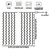 TORCHSTAR 19.7ft x 9.8ft 600 LEDs Curtain