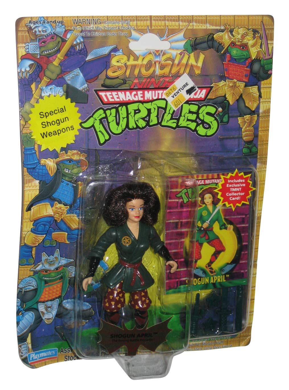 TMNT Shogun April Action Figure (The Roving Battle Reporter) with Special Shogun Weapons - Shogun Ninja Teenage Mutant Ninja Turtles