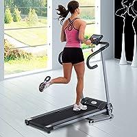 Homcom Tapis de Course Fitness électrique Pliable - 1 à 10 Km/h - écran LCD Multifonctions - Puissance 500 W