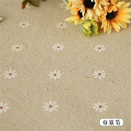 Esta pequeña e idílica frescas sábanas de algodón mantel telas el té-mantel foto mesa