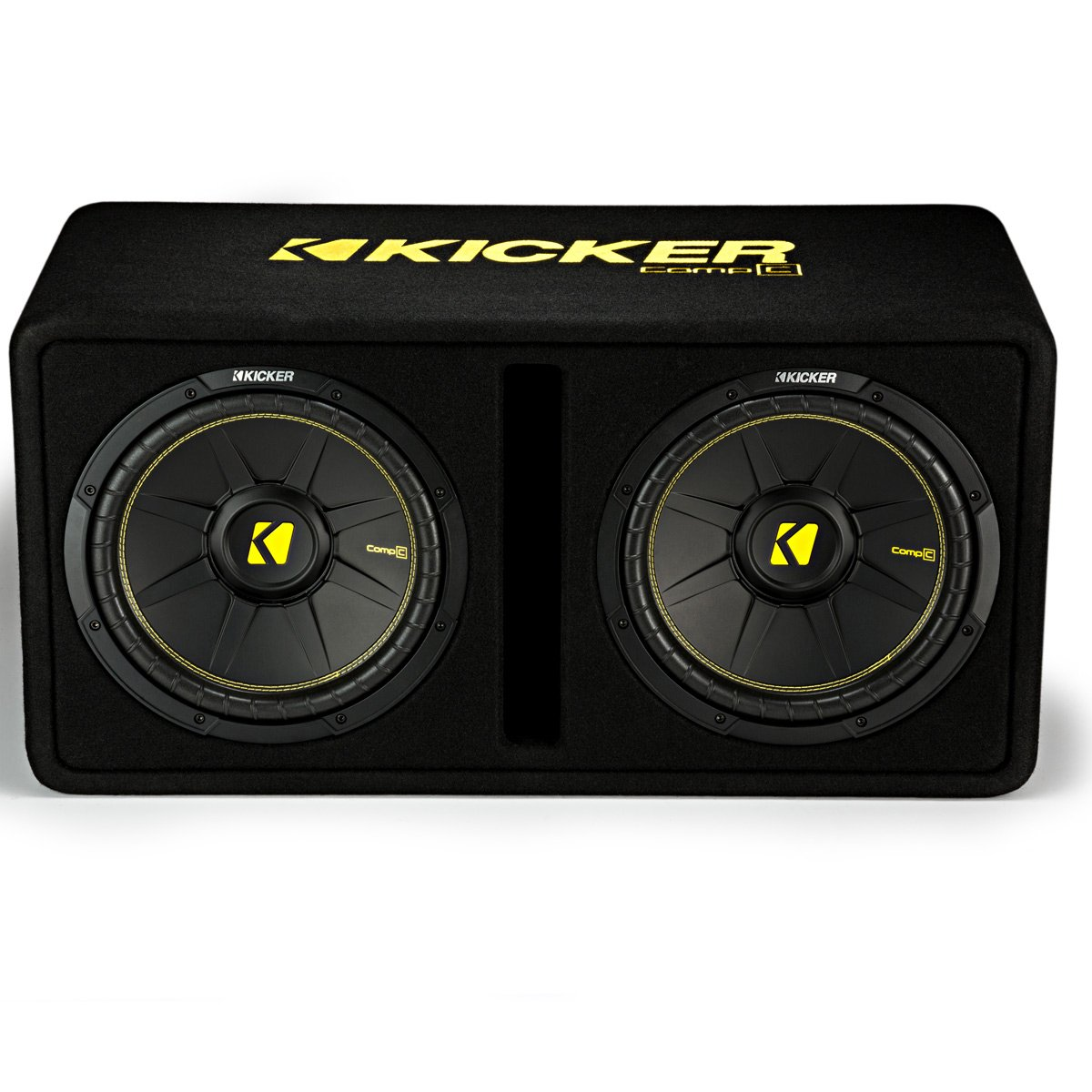 Kicker Dual 12-Inch 1200 Watt 2 Ohm Vented Loaded Subwoofer Enclosure, 44DCWC122 by Kicker (Image #1)