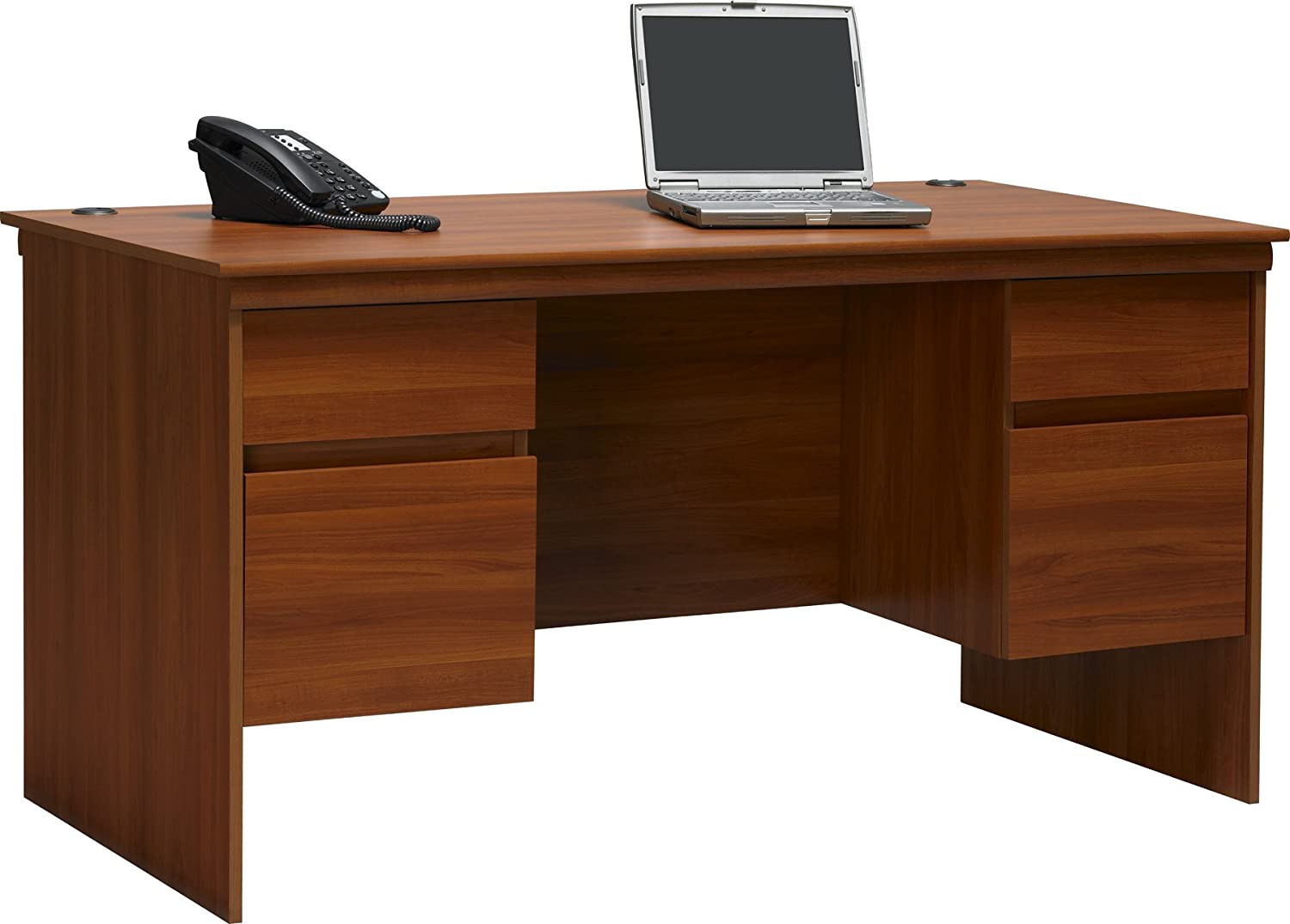 Executive computer desk - Amazon Com Altra Presley Executive Desk With File Drawers Expert Plum Kitchen Dining