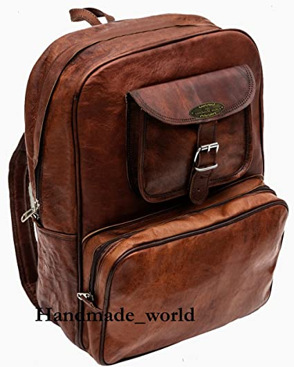 24b9339c8112 Handmade World Vintage Laptop Leather Backpack Lightweight School College  Bag Rucksack Fits 15-inch Notebook Computer
