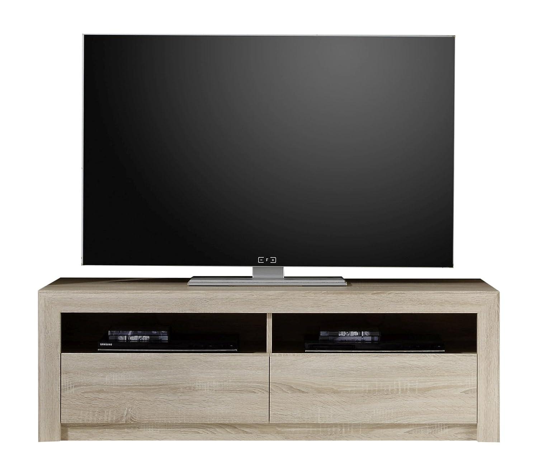 Trendteam Wohnzimmer Lowboard Fernsehschrank, Holzwerkstoff, Eiche ...