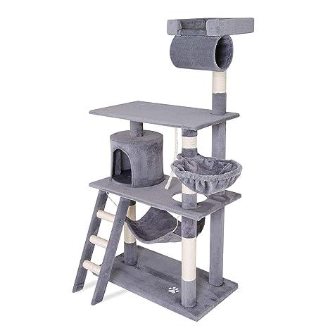 Dibea KB00504 Árbol Rascador para Gatos, 141 cm, de Altura, Escalador Muy Ancho