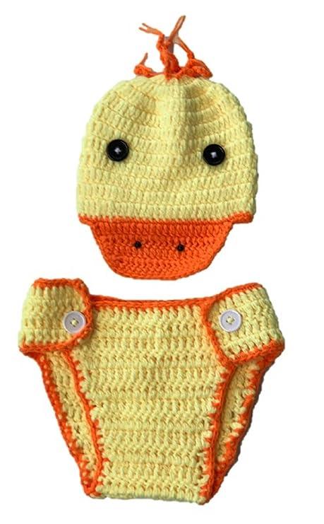 Pato, recién nacido bebé niña/niño ganchillo Costume Foto ...