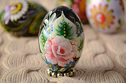 Amazon Com Handmade Carved Wooden Easter Egg Decorated Using One