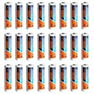 PowerDriver 24 Pack AA Ni-MH NiMH Rechargeable Batteries for Solar Lamp Remote Control