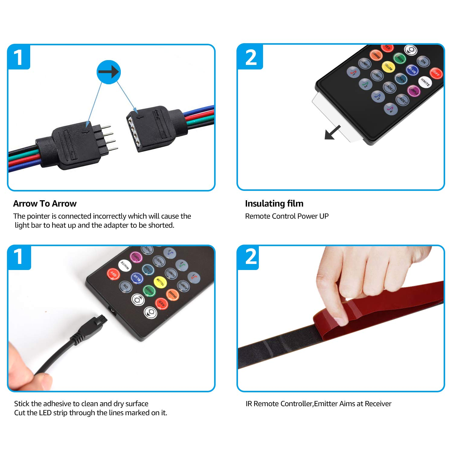 LED Strip Lights, HeySuun 32.8FT/10M 20Key RGB Light Strips, Music Sync Color Changing, Rope Light 600 SMD 3528 LED, IR Remote Controller Flexible Strip for Home Party Bedroom DIY Party Indoor Outdoor by HeySuun (Image #6)