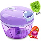 Smile Mom Handy Vegetable Chopper, Cutter Set for Kitchen, 3 Stainless Steel Blade with Free Microfiber Cleaning Gloves (400 ML)
