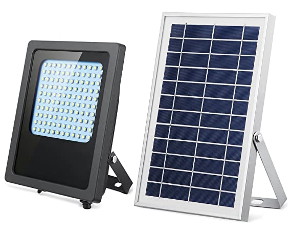 Solar Lights Outdoor 120LED Solar Flood Light Weatherproof Solar Powered Lights Solar Flood Lights Outdoor Auto