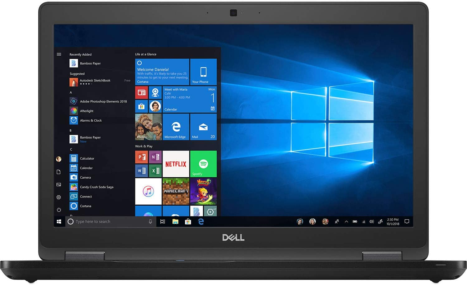 Dell Precision 3530 - i5-8300H - 15.6 FHD - 8GB - 256GB SSD - NV-4GB (P600) - Windows 10 (Renewed)