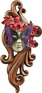 Design Toscano Masquerade at Carnivale Countess Alessandria Mask Wall Sculpture