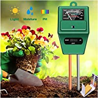 YanYoung 3 in 1 Soil Moisture Meter, Plant Moisture/Light/pH Acidity Meter Tester Gardening Tools for Home, Farm, Lawn…