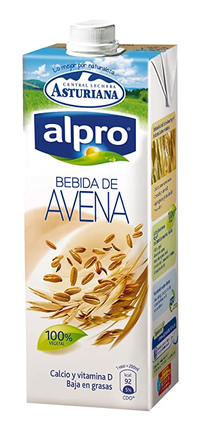 Central Lechera Asturiana - Alpro, Bebida De Avena, 1 L: Amazon.es: Alimentación y bebidas