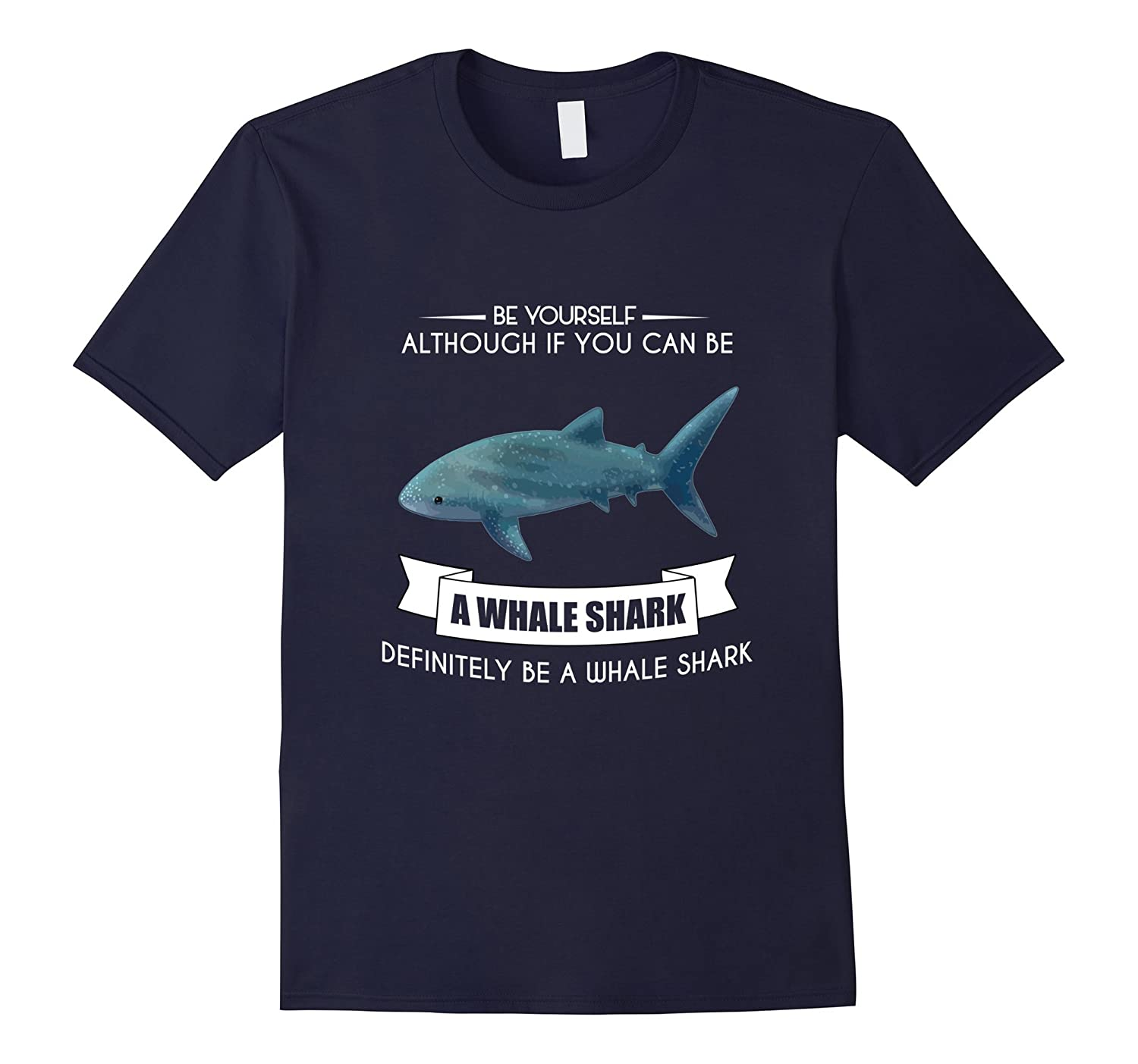 BE YOURSELF WHALE SHARK T-SHIRT CUTE FUNNY ZOO ANIMAL-TH
