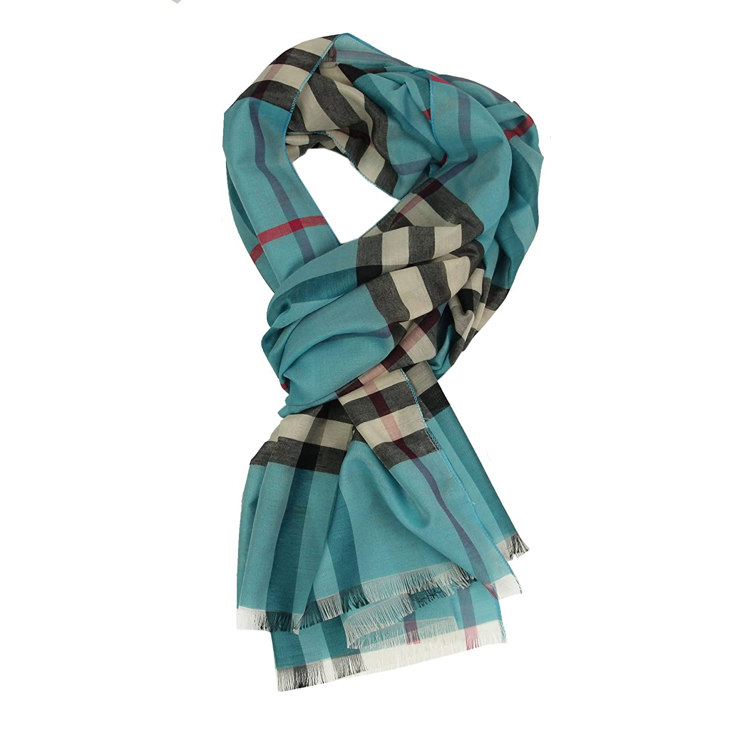 Long Check/Plaid Scarf Lightweight 74.8