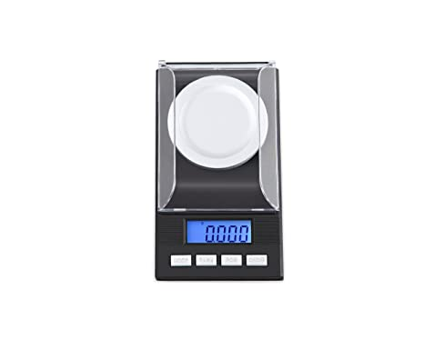 huismart Digital miligramo báscula 50 x 0,001 g recargando joyería Escala Digital escala de peso con pesas de calibración pinzas y un peso de sartenes: ...