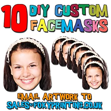 10 x custom photo diy do it yourself masks for all party novelty 10 x custom photo diy do it yourself masks for all party novelty fancy solutioingenieria Images