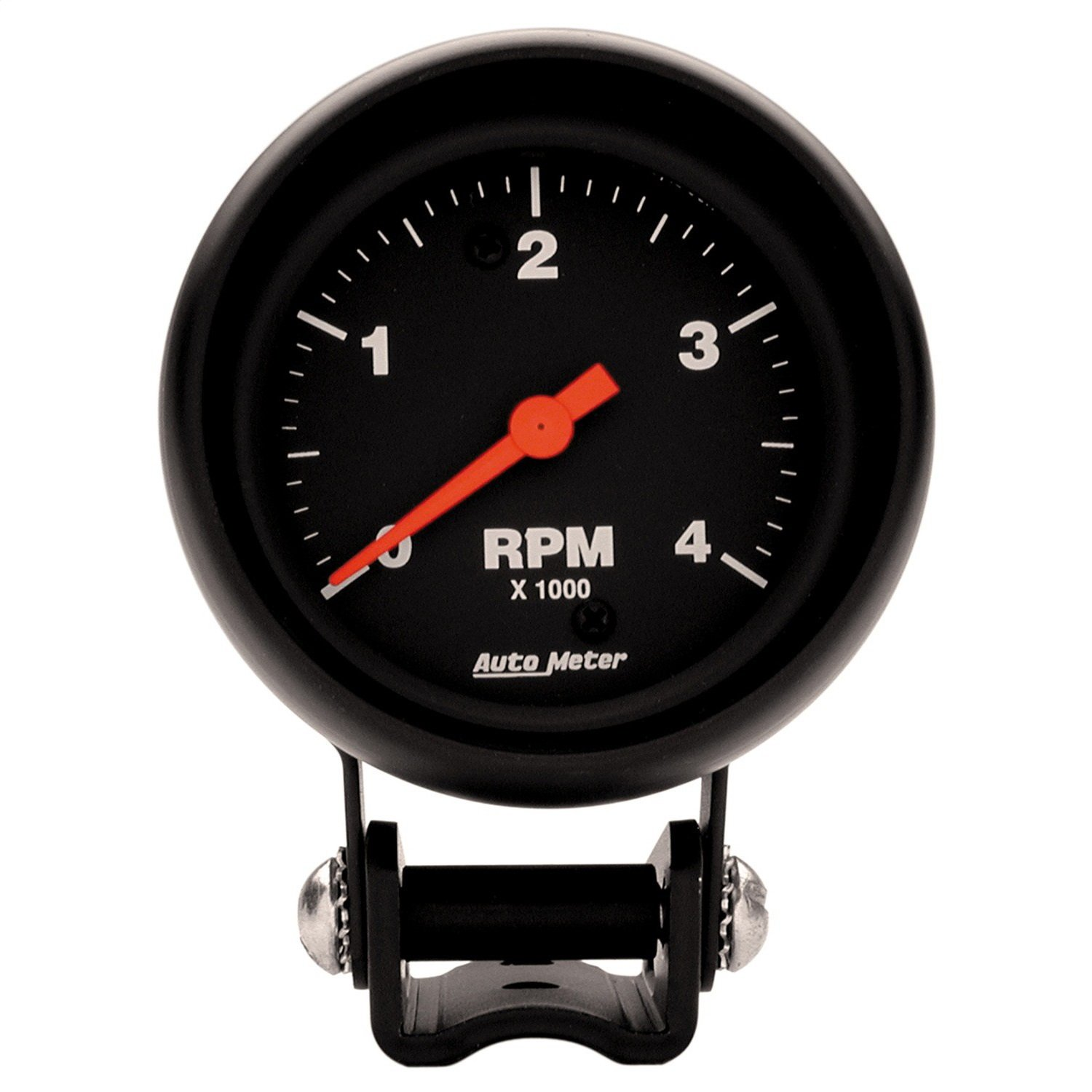 Auto Meter 2890 Z-Series Black 2-5/8-Inch 4000 RPM Mini Tach/Low-Rev Tachometer