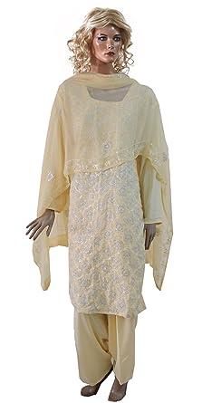 f9d82fc07d Amazon.com: Apparelsonline Ladies Plus Size 52 Dress Salwar Kameez Party  Wedding Wear (52): Clothing