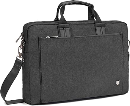 REYLEO 15.6 Inch Laptop Bag Travel Briefcase with Luggage Strap Water Resistant