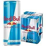 Red Bull Sugar Free Energy Drink -  250 ml (Pack of 4)