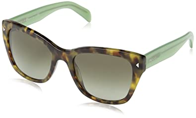 2130b8581ab Image Unavailable. Image not available for. Color  Prada Women s PR 09SS  Sunglasses Spotted Brown Green   Green Gradient Grey 54mm