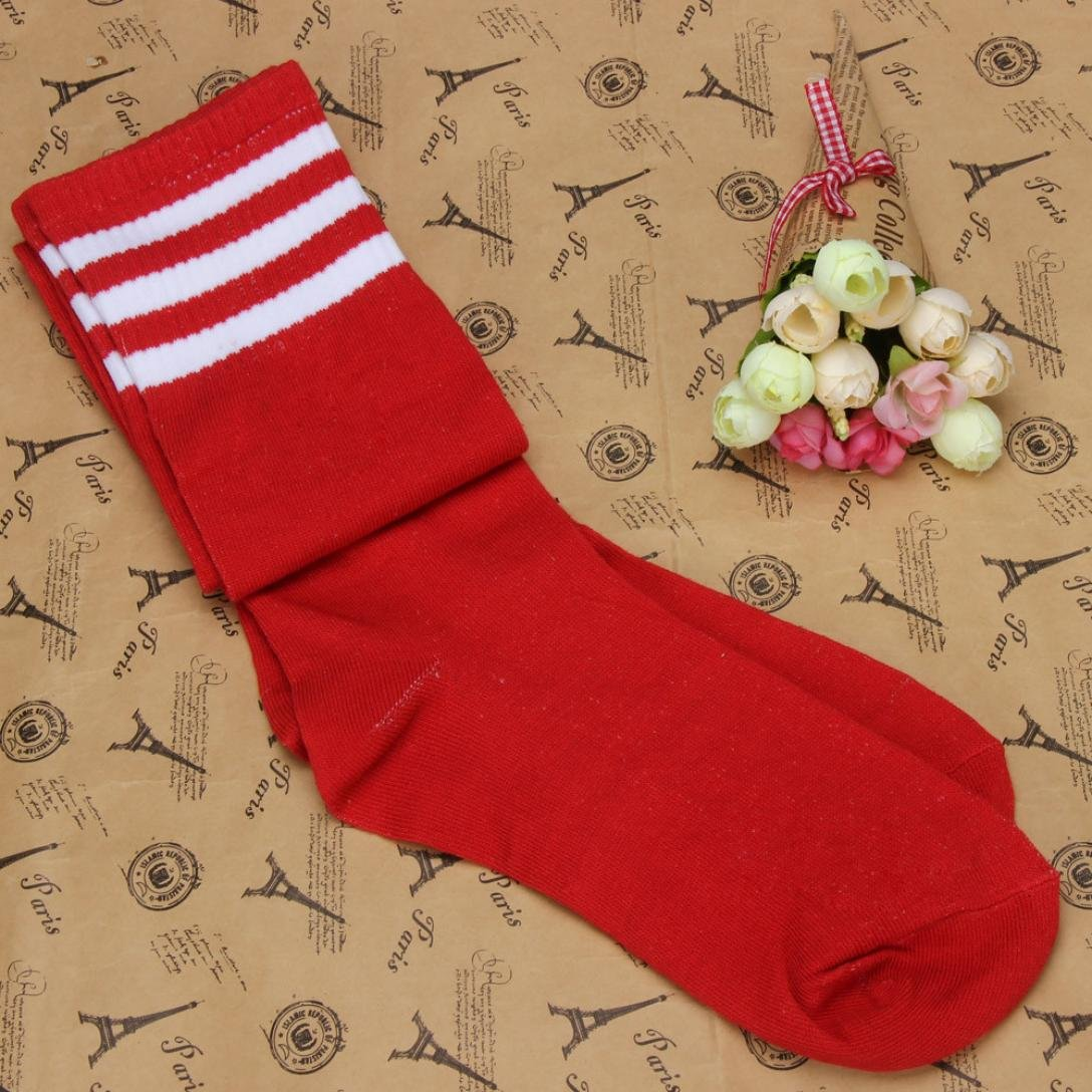 Women Leggings,Sunfei 1 Pair Thigh High Socks Over Knee Girls Football Socks
