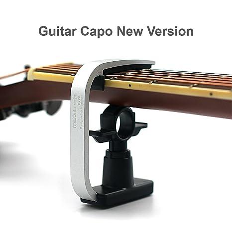 Cejilla para guitarra de Loftstyle, accesorios profesionales para guitarras, plateado
