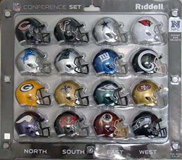 NFL Speed Pocket Helmet NFC Conference Set  Amazon.co.uk  Sports   Outdoors b5dc475b482