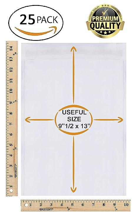Amazon.com: Paquete de 25 sobres acolchados blancos de papel ...