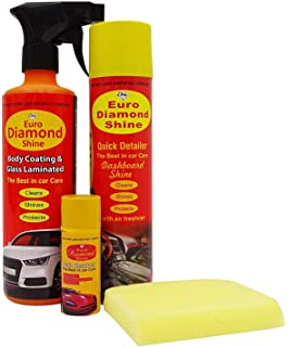 Euro Diamond Shine Car Cleaner And Polish Stain Remover Pack Of 4