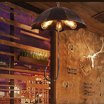 Araña Escandinava Retro Industrial Viento Loft Paraguas Chandelier Restaurante Bar Cafe Ropa Tienda Decoración Hierro Iluminación