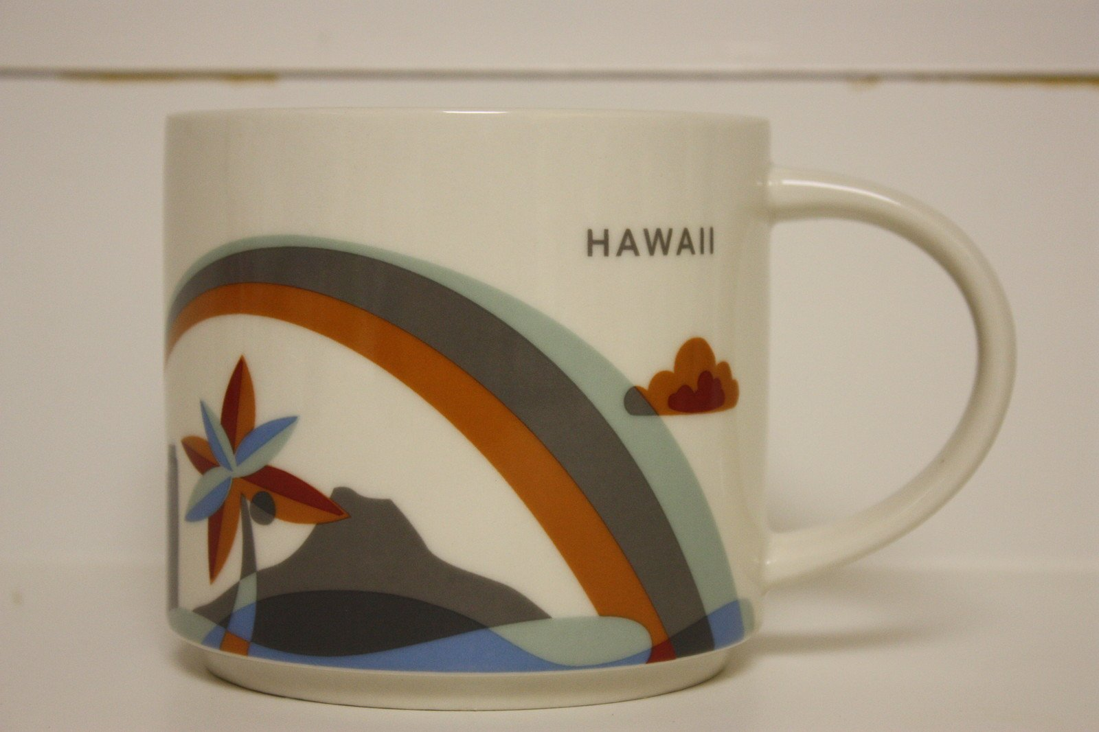 Starbucks Hawaii - You Are Here Collection Coffee Mug with Rainbow and Diamond Head (011023931)