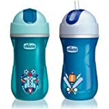 Chicco NaturalFit Insulated Flip Top Straw Sippy Cup, in Assorted Colors, 9 Ounce, 2 Count