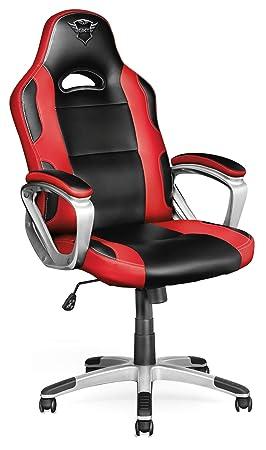 Elegant Trust Ryon GXT 705 Chaise Bureau Gamer   Noir / Rouge