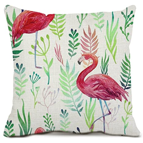 ZAZHUZAI Super Suave Flamingo Manta Almohada cojín ...