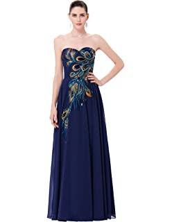 GRACE KARIN Long Strapless Embroidery Prom Dress A-line CL6168  (Multi-Colored) 29b4c21a7664