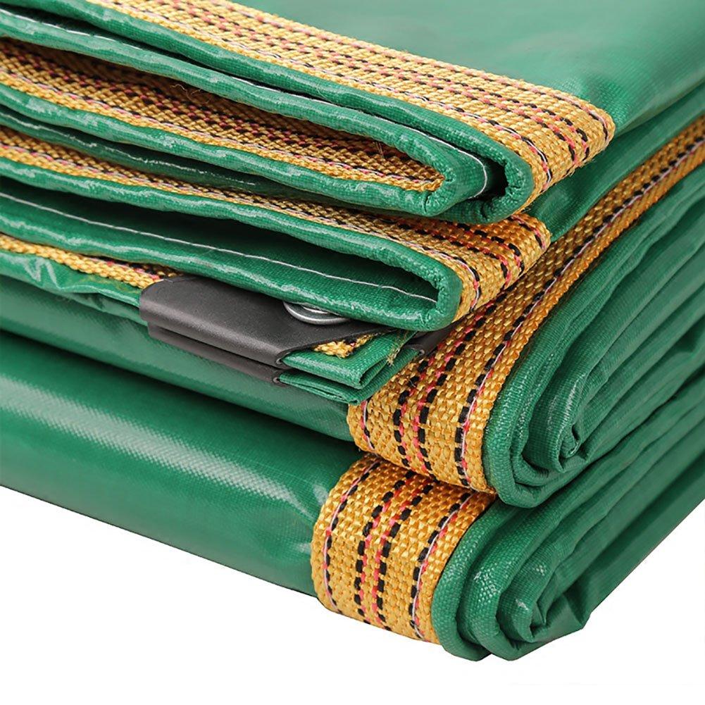 TDLX Grüne Plane-Wasserdichtes Blatt 3m verdicken regendichte Plane-Hochleistungsfallen-Bodenblatt-Abdeckungs-Schuppen-Stoff-Faltbarer Segeltuch-Zelt-Spleiß (größe   3  6m)