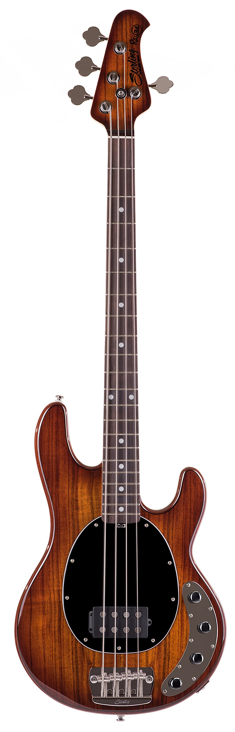 Sterling by Music Man Ray34 StingRay Bass, Koa Top