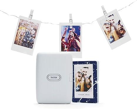 Instax LINK smartphone printer bundle, Color Blanco Ceniza ...
